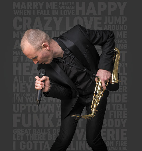 Paul Martyn wedding singer, saxophone player, DJ based in Nottingham, Nottinghamshire